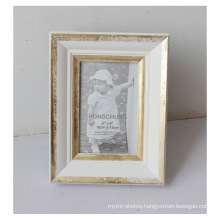 White Antique Gesso Frame for Desktop